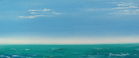Marina en verde, Mamen Arruti Pintura, marinas, mis cuadros