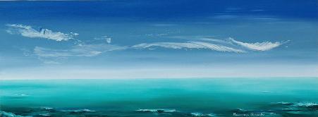 Paisaje idílico, Mamen Arruti, pintura, marinas, cuadros,