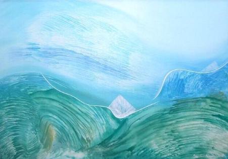 La mar al viento, Mamen Arruti, pintura, marinas, cuadros,