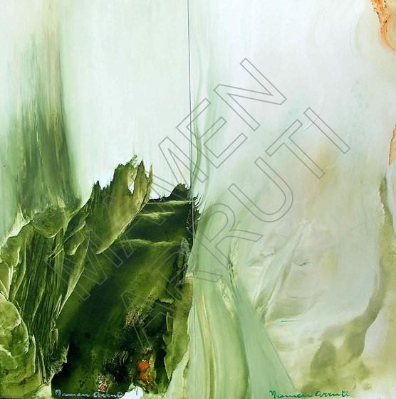 Color en movimiento, mamen arruti, verde, expresionismo, abstracto, díptico