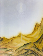 Guardián, montaña, pintura, símbolo,